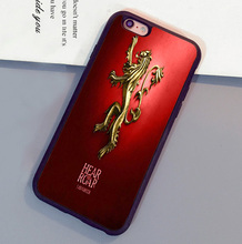 Game of throne Hear Roar Print Luxruy Mobile Phone Cases For iPhone 6 6S Plus 7 7 Plus 5 5S 5C SE 4S Soft Rubber Skin Back Cover