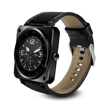 Bluetooth Smart Watch B3 Extreme Thin Business Leather Band Full HD IPS Screen Fully Compaticable Watch Phone PK V365 K8(China)