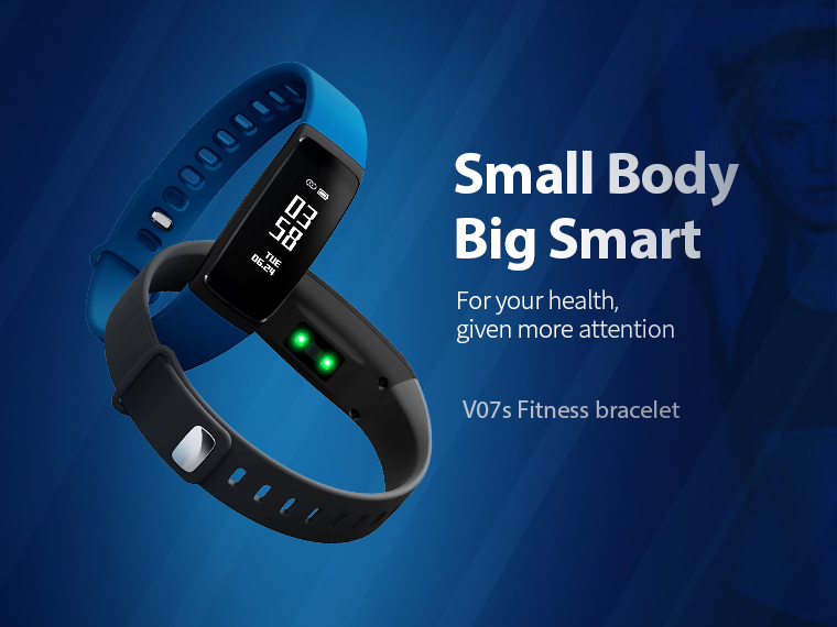 V07 Smart Band Wristband Band Heart Rate Blood Pressure Pedomet Bracelet Fitness V07S For iOS Android Phone PK Mi Band 2 Fitbits 2