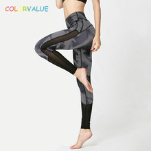 Buy Colorvalue Camo Printed Dance Sport Tights Women Sexy Mesh High Waist Yoga Pants Geometry Printed Fitness Workout Leggings for $15.65 in AliExpress store