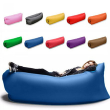 New 2017 Outdoor lazy sofa sleeping bag portable folding rapid air inflatable sofa Adults Kids Beach blow-up lilo bed(China)