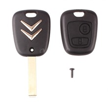 2 Button Uncut Blade Remote Car Key Case Shell Fob For Citroen C1 C2 C3 / Pluriel C4 C5 C8 / Xsara Picasso Cover Replcament