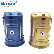 RU Mixxar 6 LEDs Portable Solar Charger Lantern Emergency Camping Lanterns Waterproof Rechargeable Hand Crank Light Lamp