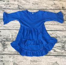 2017 Top Quality baby girls smocked dress kids fancy party wear ruffle dress for girls(China)