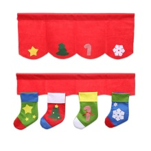 New Christmas Accessories Party Christmas Ornaments Cheap Decorations for Home Restaurant Christmas Tree Socks Flag Styles(China)
