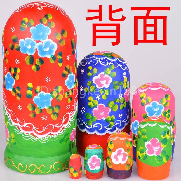 7Pcs/set 20CM Height Wooden Russian Doll Nesting Babushka Matryoshka Dolls Children Education Toys Matryoshka Doll<br><br>Aliexpress