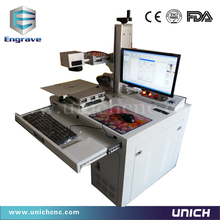 2016 high speed  mark depth 0.5mm fiber laser marking machine/etching machine for stainless steel