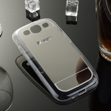 Plating Mirror TPU Mobile Phone Cases For Samsung Galaxy S3 S III i9300 I9305 I9308 I747 T999 GT-I9300 Back Cover Bag Silicone