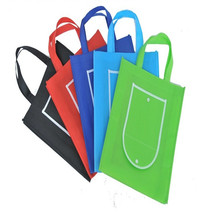 wholesale 500pcs/lot Custom Foldable Market Shopping TNT Recycled Non Woven Bag(China)