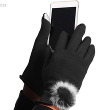 1 Pair cheapest Unisex Women's Cute Touch Screen Stretchy Soft Warm Winter Gloves for Mobile Phone Tablet Pad Drop Shipping(China)
