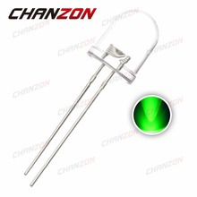 50pcs 10mm Green LED Diode 20mA DC 3V Water Clear Green Ultra Bright Round Transparent 10 mm LED Light Emitting Diode Lamp(China)