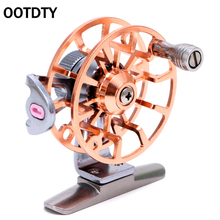 Full Metal Fishing Wheel Ultra-light Former Ice Fishing Reels Wheel Fly Fishing Reel Aluminum OOTDTY 6 COLORS(China)