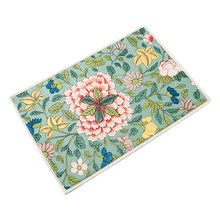 Retro flowers pattern MAT Square Cushion Kitchen Door Pad Bathroom Non-slip Remove dust Door Mats Table Carpet Bedding mats rugs(China)