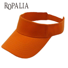 ROPALIA Cotton Sun Visor Hats Woman Man Tennis Baseball Caps Candy Color Women Hats(China)