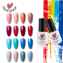 Gelfavor 68 Colors Nail Gel Polish Soak Off UV LED Gel Polish Pure Color of Nude Red Blue Gray Series  Gel Nail Polish