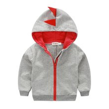 0-4Y Baby Sweatshirt Hoodies Winter Warm Long Sleeve Coat Outerwear Windproof Kids Boys Hooded Outfits(China)