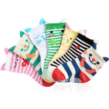 1LOT=2Pairs Baby Socks Lot Animals Cartoon Baby Socks Girls Boys Short Socks for Kids Cat,Strips Anti-slip NewBorn Brand 0-3Y