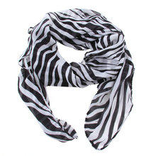 Fashion Trendy Long Zebra Printed Chiffon Scarf Women Girls shawl Soft Smooth Hot