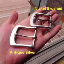 DIY Johnleather Craft Hardware Classic Style Pin Buckle Belt Buckle Antique Silver & Nickel Brushed Finish# 9011668-T36(China)