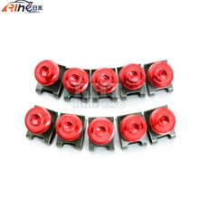 10 Pieces 6MM Motorcycle Fairing Body Screws For Ducati motorcycles Monster 1100 EVO Superbike 1199 Panigale Superbike 848 EVO