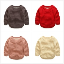 Autumn winter children sweaters Velvet Tree Pattern knitwear cashmere infant/baby boys girls sweater warm clothes For 1-8Y Kids(China)