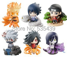 hot ! NEW 6PCS/set Q version 5cm naruto Uchiha Sasuke Uchiha Madara Orochimaru action figure toys Christmas toy
