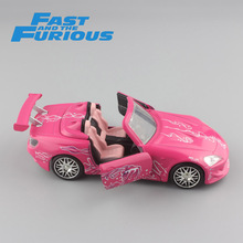 Child's 1/32 Scale mini FAST and FURIOUS Suki's HONDA S2000 2001 metal diecast model sport race cars hot machine auto toys pink