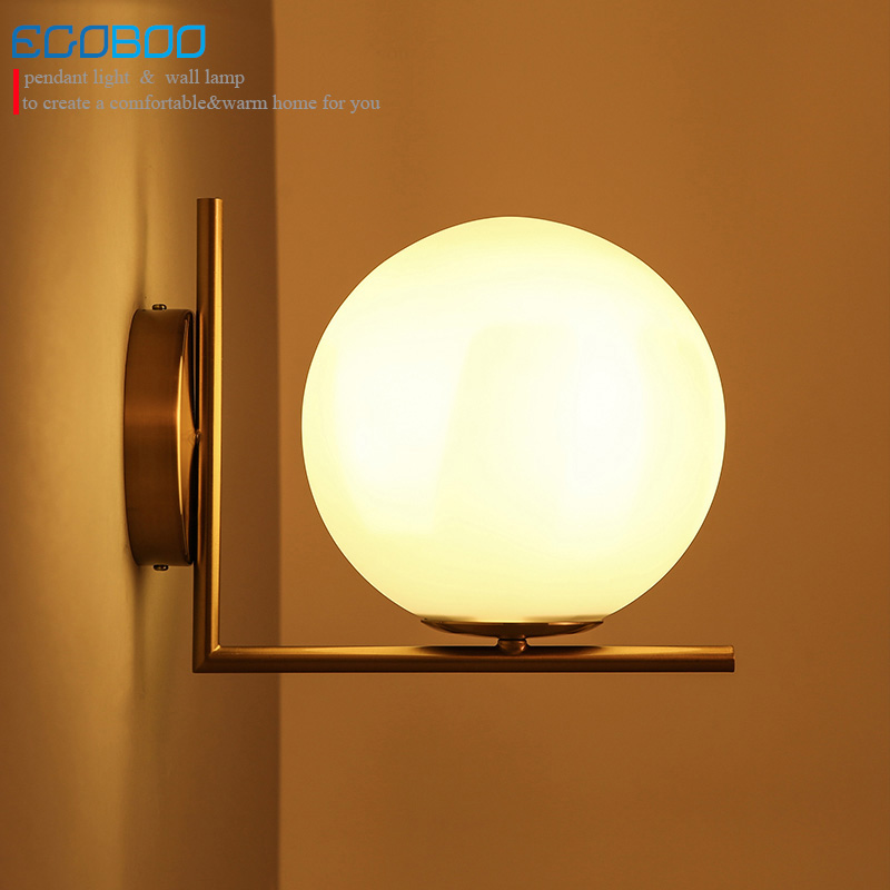 Modern simple Nordic creative personality living room bedroom bedside restaurant balcony corridor aisle round wall lamp