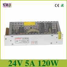 Universal Regulated Switching Power Supply electronic transformer,output DC24V 5A 120w,input 110v-220v Driver,CCTV PSU LED strip(China)