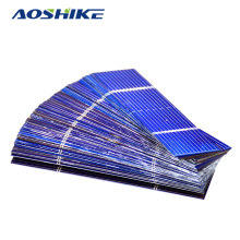 Aoshike 50Pcs 0.25W 76x19mm Solar Panel Kit Polycrystalline Poly DIY Solar Cells