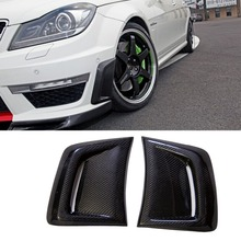 W204 Carbon Fiber Front Bumper Side Air Vent decoration sticker for Mercedes Benz W204 C63 AMG 2011-2014(China)