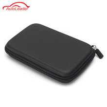 7 Inch PU Hard Shell Leather Carry Bag Case Cover Pouch Sat Nav Navigation GPS Holder Bag Earphone For Phone(China)