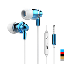 Hot Sale!!! Original  M300 Stereo Earphones 3.5mm In-Ear metal Earbuds Super Clear Bass Headset Handsfree With Mic
