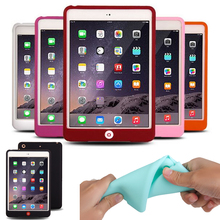 New Solid Soft For iPad 2 Case Rubble Suger Color Protective Funda Case For Apple iPad 2 iPad 3 iPad 4 Silicon Tablet Case