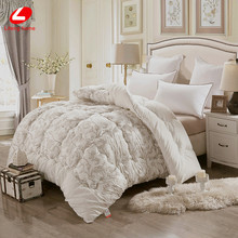 Winter comforter short plush fabric bed comforter soft warm quilted quilts 3.0kgs patchwork quilts 200*230cm, 220*240cm stuffing(China)