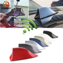 POSSBAY Car Truck Van Roof Shark Fin Antenna Radio Signal Aerial for Polo Ford Nissan AM/FM Signal Amplifier Roof Decoration(China)