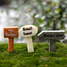 Mini Sign Post Micro Landscaping Decoration Small Plastic Craft DIY Sand Table Accessories K6714(China)