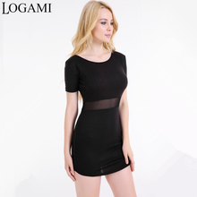 Buy Summer Dress 2017 Women Casual Party Dresses Short Sleeve Patchwork Bodycon Sexy Dress Black Womens Clothing Vestidos Mujer Robe for $8.21 in AliExpress store