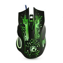 Wired Gaming Mouse 6 Buttons 5000DPI Ajustable Optical Mouse Colorful LED Light Computer Mouse Mice For Desktop Laptop LOL CS GO(China)