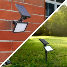 1pcs Promotion 48LED Super Bright Constant Light Solar Flood Light Street Light Outdoor Lawn Lamp White IP65 Good Quality(China)