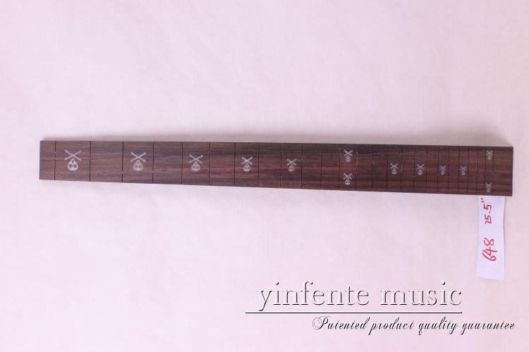 new  high Quality  1 x  25.5   Guitar Fretboard electric guitar rose  Wood Fretboard Parts 23 #  inlay<br>
