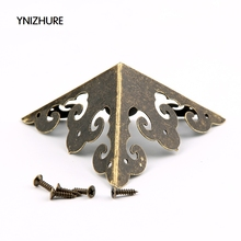 2017 Special Offer Sale 20pcs 50*50mm Antique Hardware Classical Decoration Corners Wooden Wine Packer Angle Jewelry Box Feet