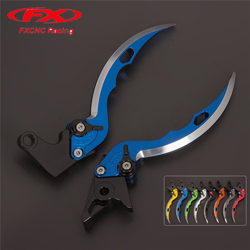 FX CNC Aluminum Adjustable Motorcycles Knife Blade Brake Clutch Levers For Kawasaki Z1000SX NINJA 1000 Tourer 2017 Z1000 R 2017<br>
