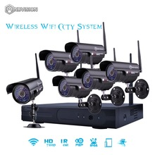 Anbvision Wireless Wifi 6PCS 720p Bullet Camera CCTV P2P Kit System Underwater IR LED camara ip Video surveillance NVR video(China)