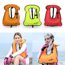 Men Women Snorkeling Gear Swimwear Inflatable Adult Life Jackets Vest Swimwear Rafting Snorkeling Surfing Floating Life Vest(China)