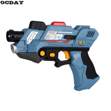 2Pcs Digital Electric Laser Tag Toy Guns With Flash Light & Sounds Effect Live CS Battle Shooting Games For Kids Xmas Toy Guns(China)