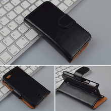 Crazy Horse Leather Case For Sony Xperia miro ST23i ST23a Wallet Cover with ID Card Slots and Stand  4 Colors in Stock