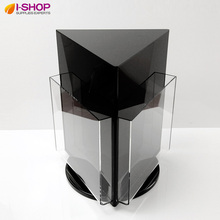 Rotating Countertop Display 3 Sided Magazine Size Displays Brochure Rack Table Holder Features A4 Black YXZ-02(China)