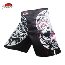 SUOTF MMA boxing pattern motion picture cotton loose size training kickboxing shorts mma fight shorts muay thai clothing mma