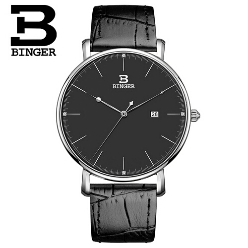 New Binger ultra thin watch Switzerland quartz movement lover timepiece Casual Watch Dress luxury timepieces relogio masculino<br>